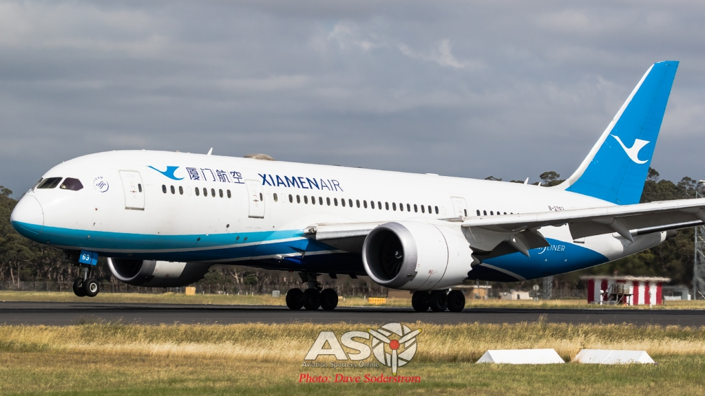 B-2763 Xiamen Airlines Boeing 787-9 ASO (1 of 1)