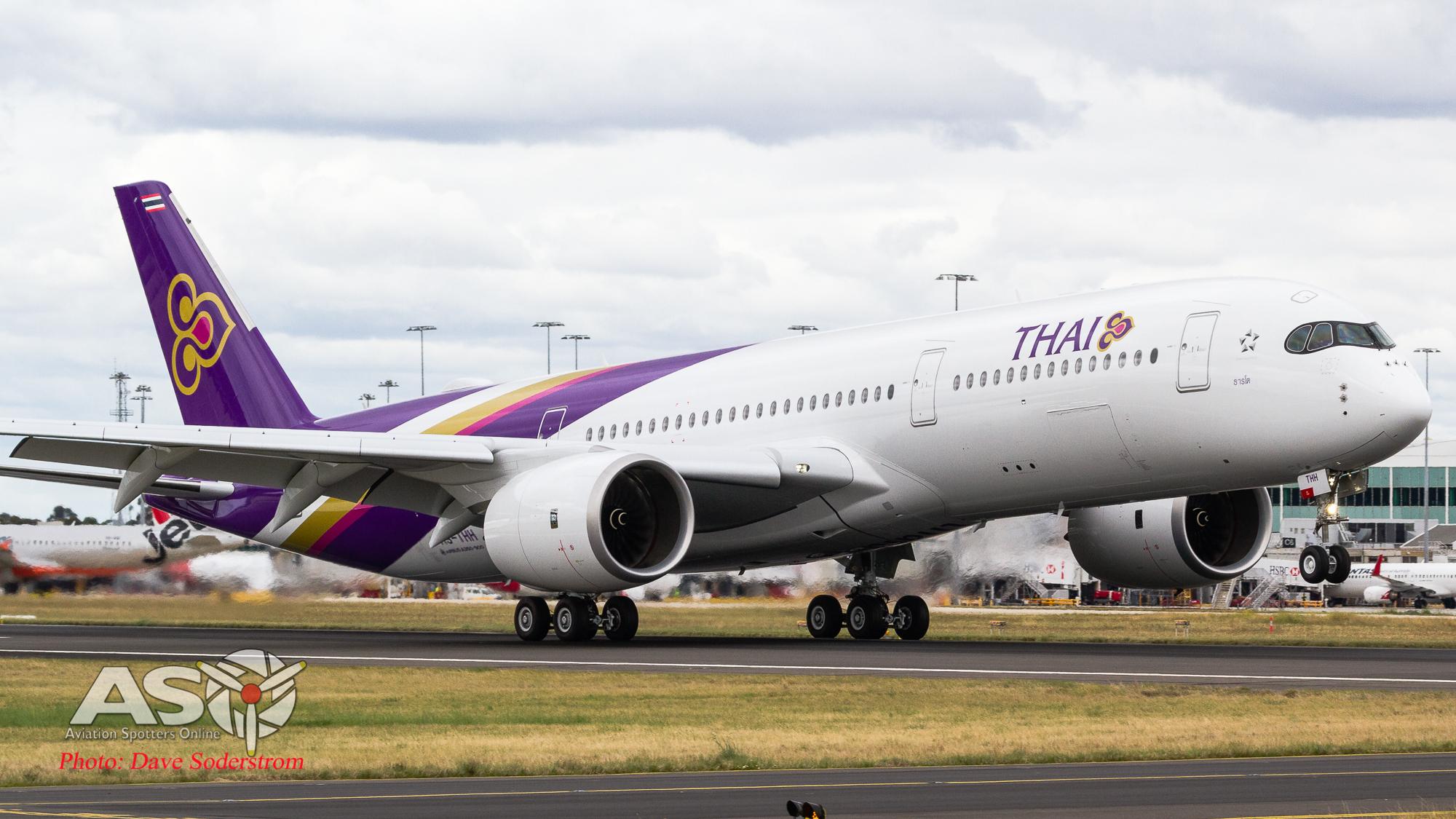 Thai Airways brings the Airbus A350 to Melbourne.