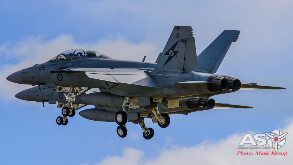 Early morning launch of F/A-18F Super Hornets