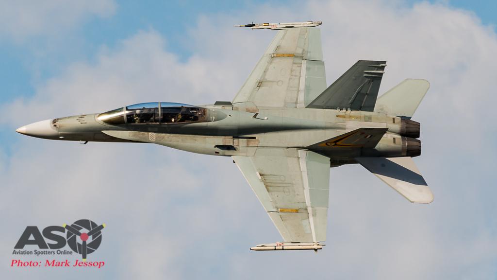 "2017 RAAF F/A-18A Hornet Solo Display Pilot FLTLT Matt ""Traylz"" Trayling."