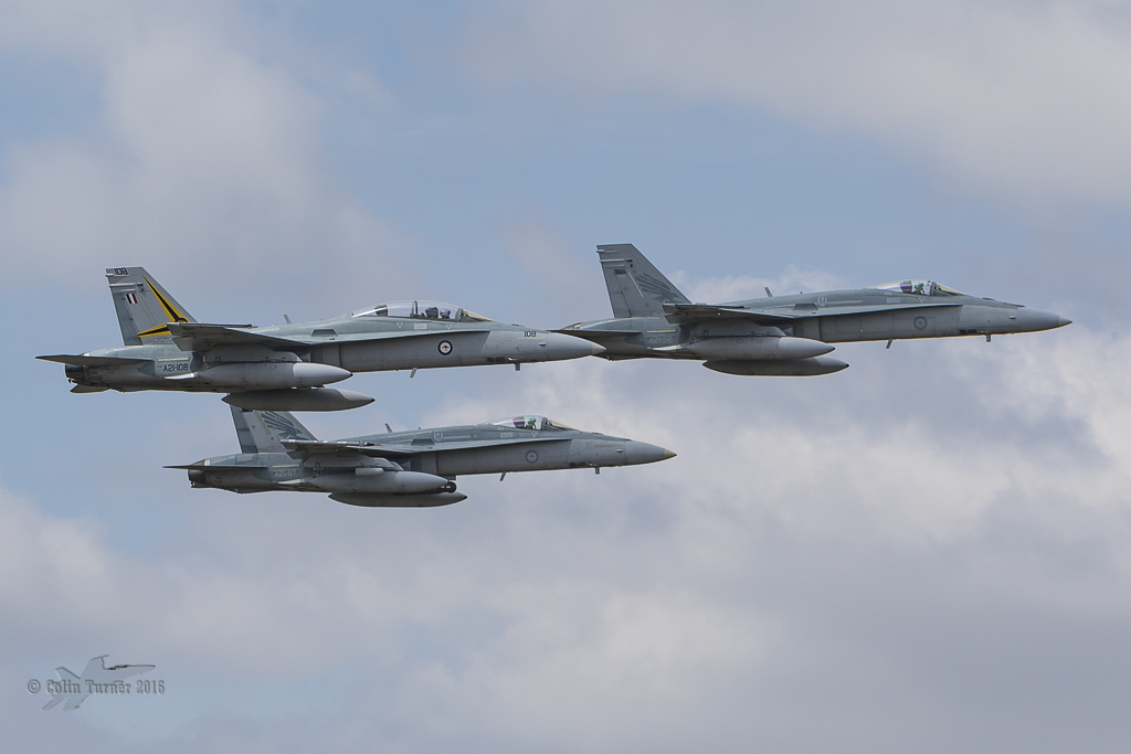 RAAF 3 Squadron 100th Anniversary Canberra fly past.