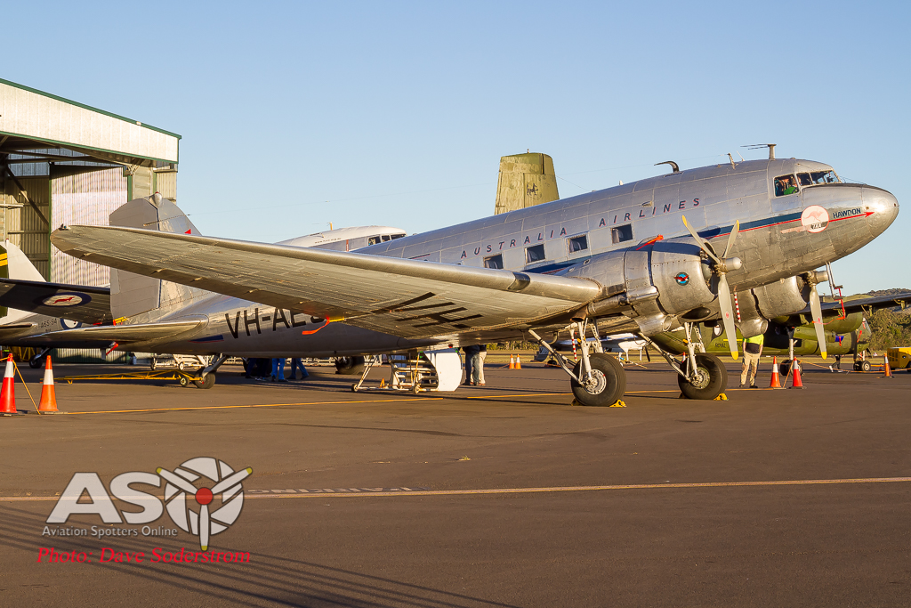 A flight back in time. Flying in the Douglas DC-3/C-47 VH-AES 'Hawdon'
