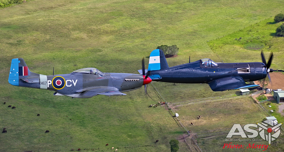 Corsair and Mustang Air-to-Air
