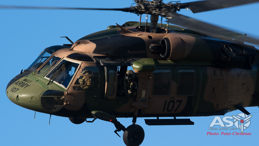 Army helicopter training over Adelaide
