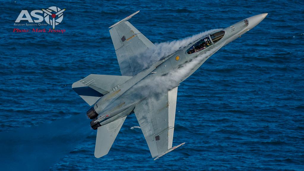 RAAF F/A-18 Hornet saying hello.