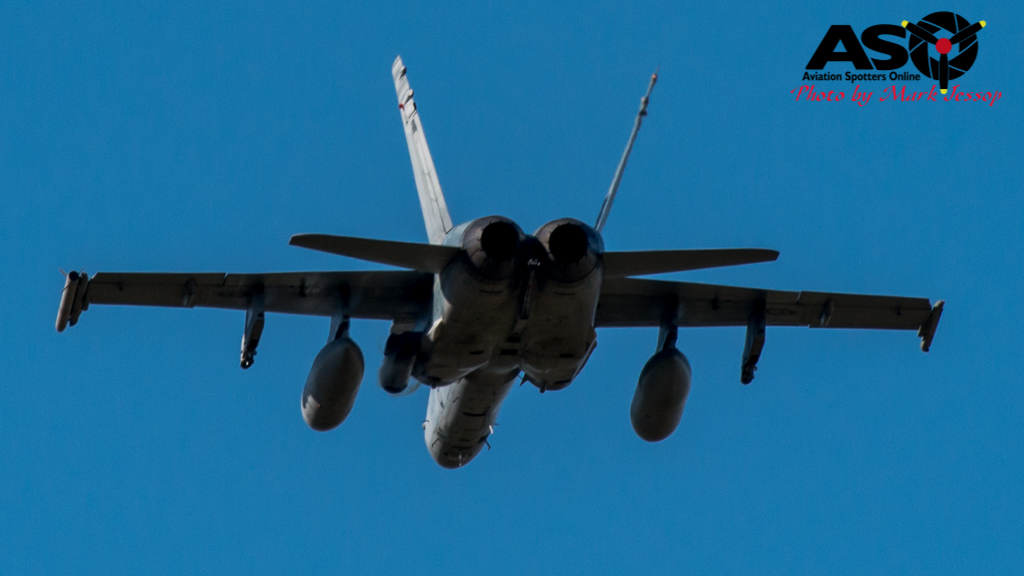F-A-18A low level Western Airspace tank run-10
