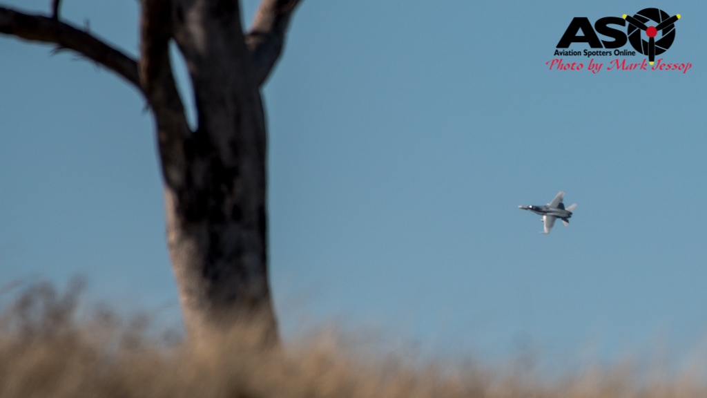 F/A-18B Hornet low level Western Airspace