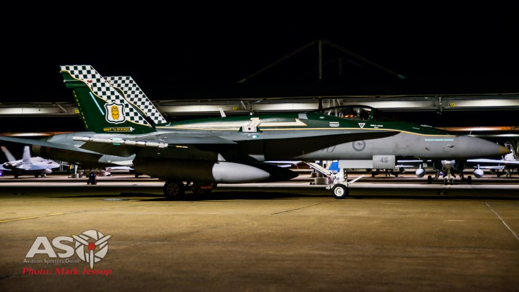 RAAF F/A-18A Hornet A21-49 77SQN 70th Anniversay scheme
