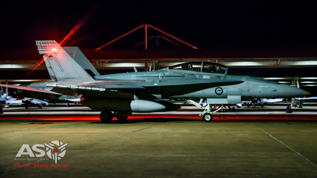 F/A-18A low level Western Airspace Night time