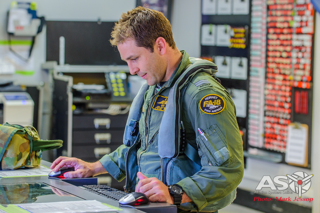 """""""Bung"""" checking all the aircraft's details."""