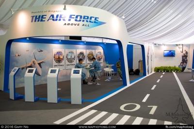 RSAF Recruitment booth