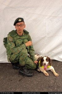 Dog Handler of K-9 Unit with his buddy