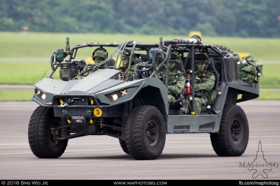 Light Strike Vehicle deployed with members of the Guards Formation