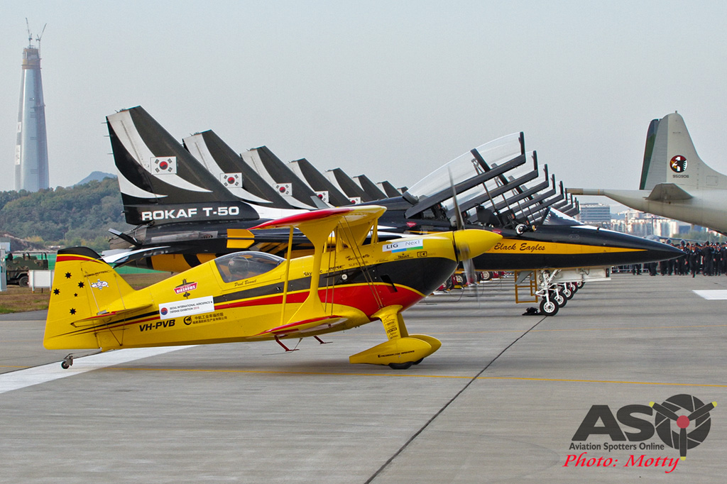 Mottys Paul Bennet Airshows Wolf Pitts Pro VH-PVB Korea ADEX 2015 118