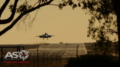F-15SG's returning from another warm up flight