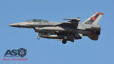 RSAF F-16D returning to base