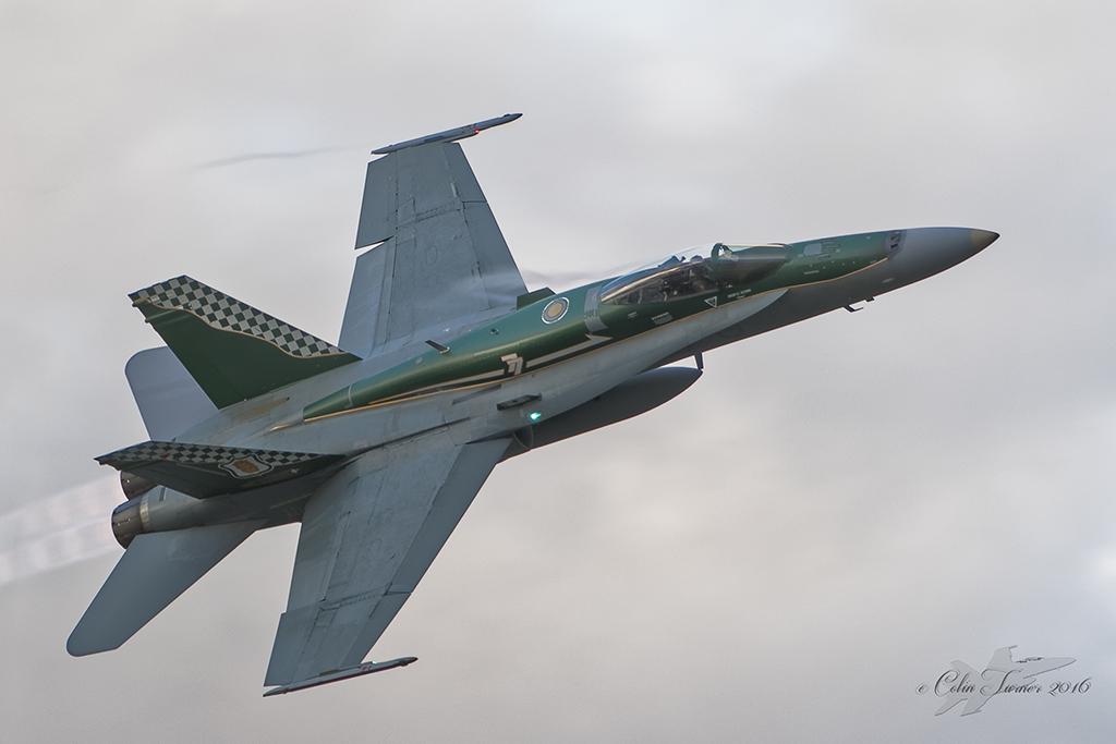 F/A-18A Hornet A21-49 77SQN 70th anniversary scheme