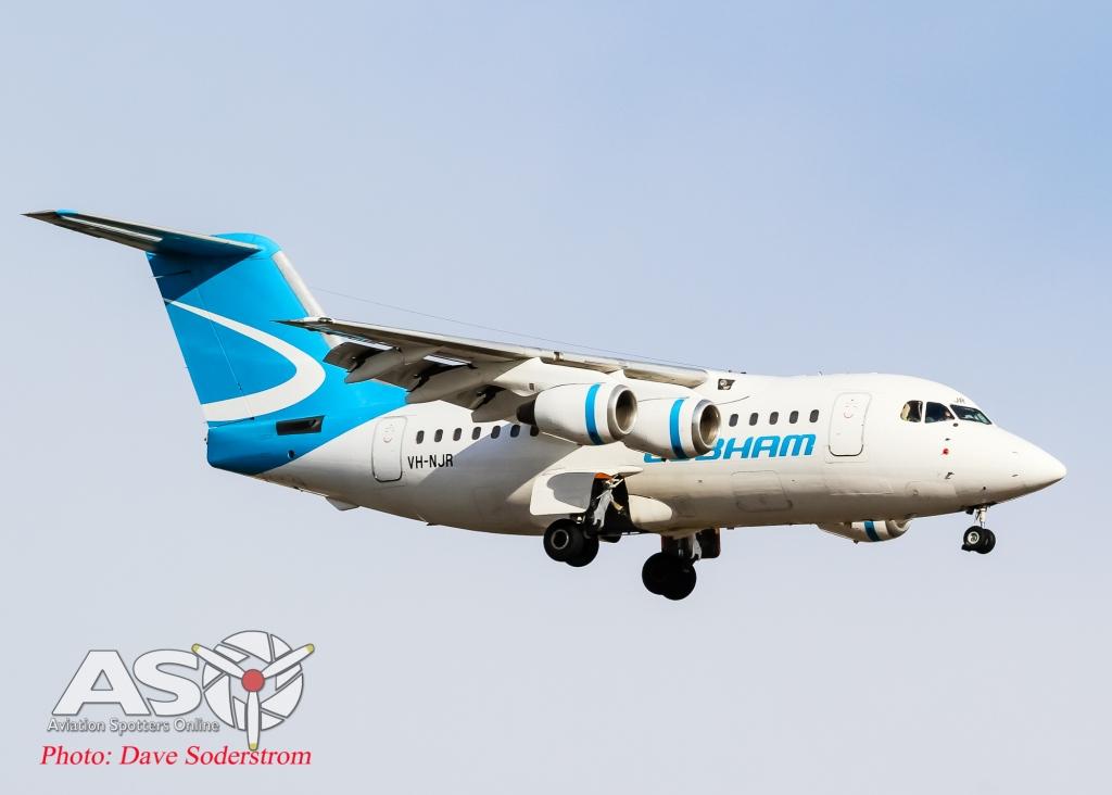 VH-NJR Cobham RJ85 ASO (1 of 1)