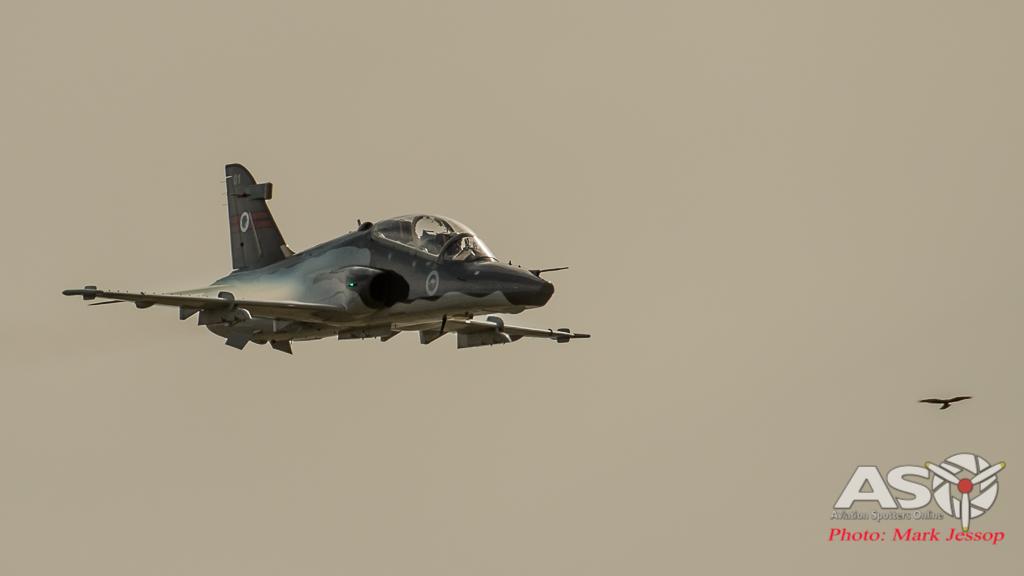A RAAF Hawk and a local Hawk