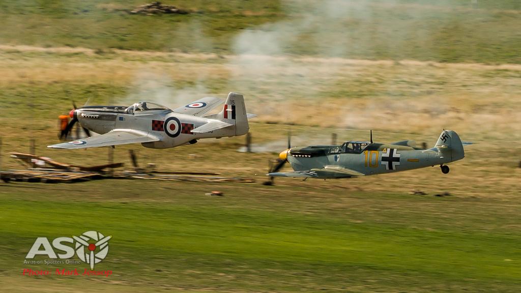 Buchon 109 catches a P-51D