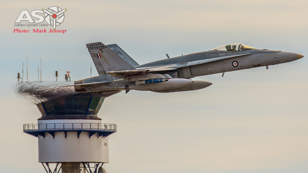 F/A-18A Hornet A21-30 75SQN Launch\'s into another Mission.