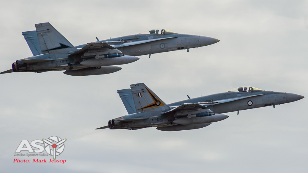 A21-9 77Sqn and A21-25 2OCU head out on another mission out of RAAF Darwin.
