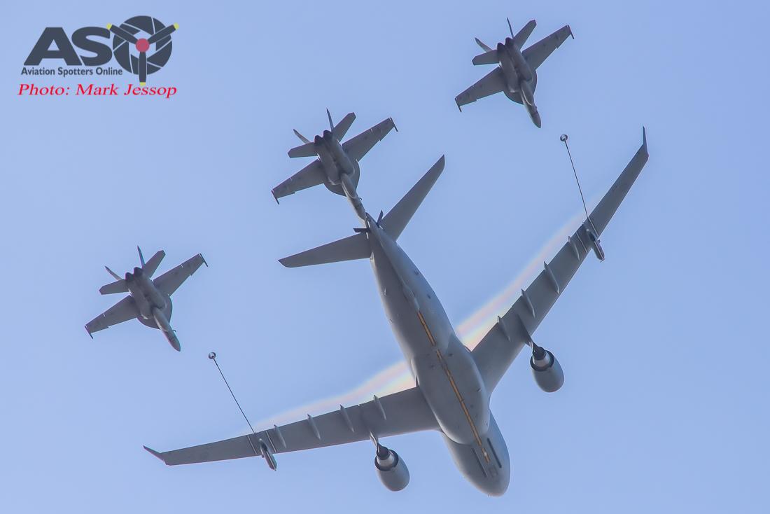 KC-30A and F/A-18F SuperHornets