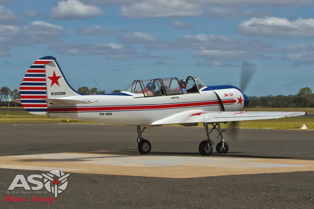 Mottys AWAL Kingaroy 2015 Yak-52 VH-KGV 0030