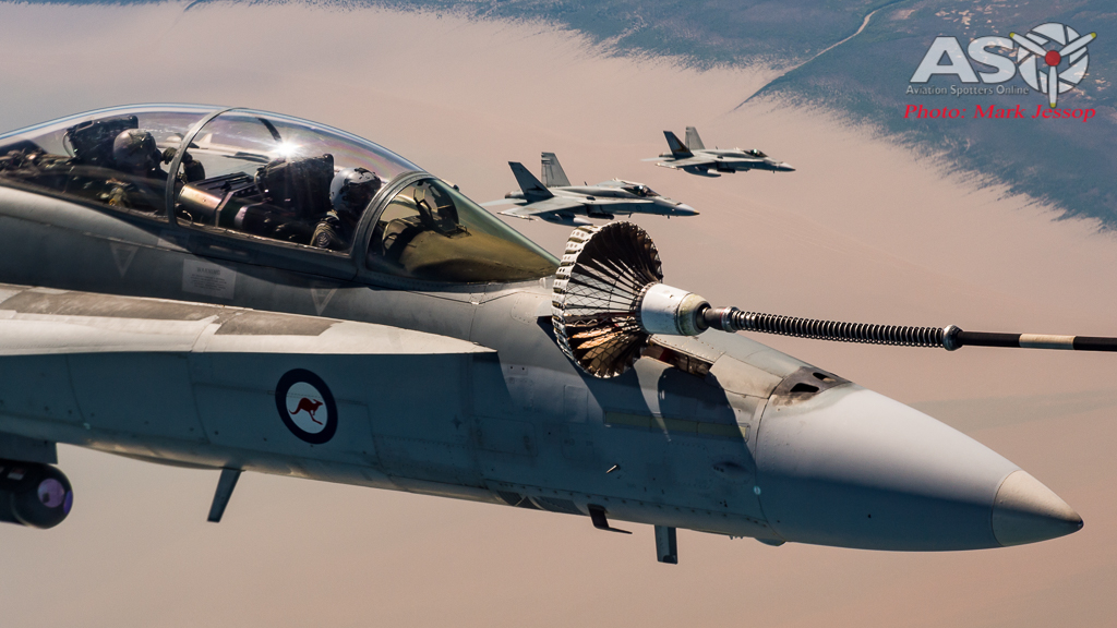 """The line up begins to refuel these \""""thirsty fighters\"""""""