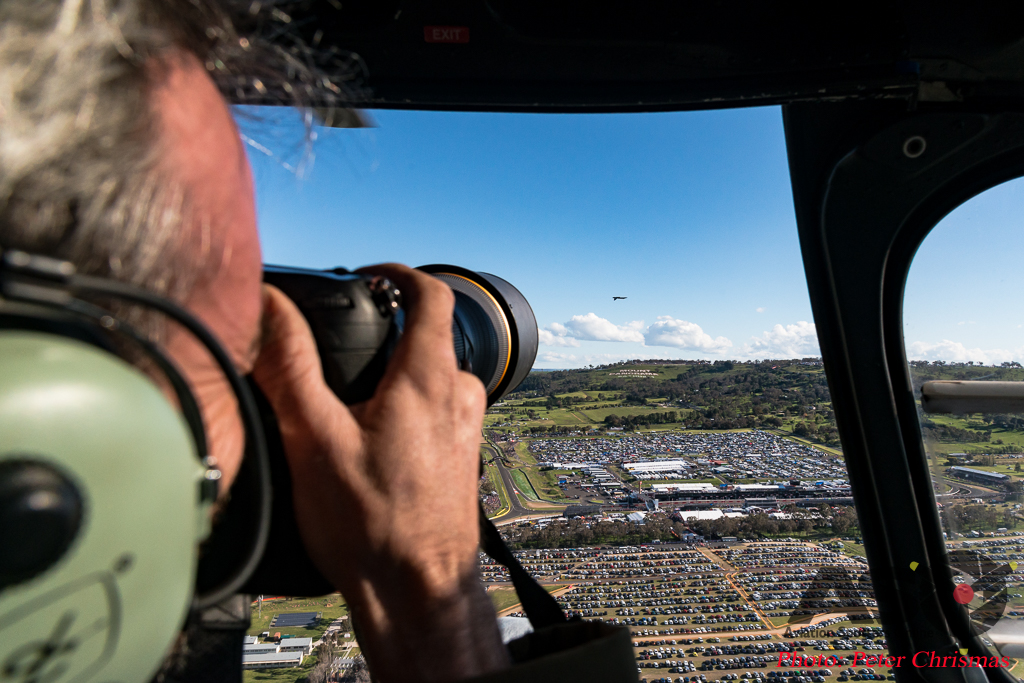 Peter\'s photo of me showing the distance between us and the aircraft.