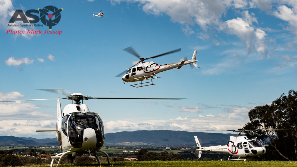 Sydney Helicopters and the 4 working non stop.