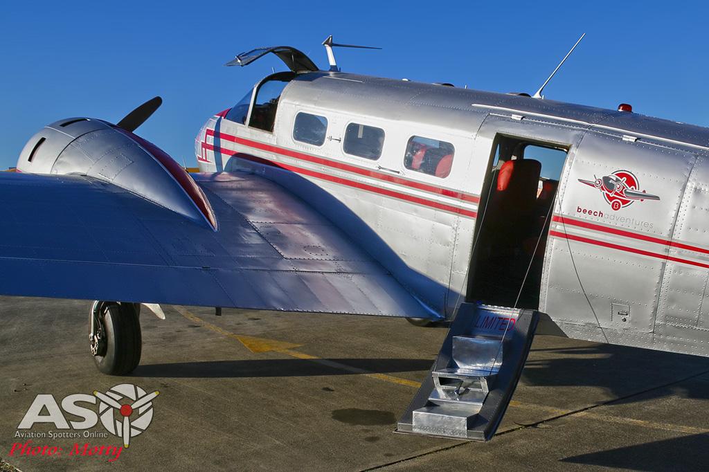 Mottys Beech Adventures Beech-18 VH-BHS 2723-DTLR-1-1-001-ASO