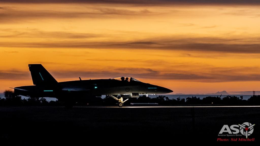 Night Ops - 2OCU Classic lining up runway 29
