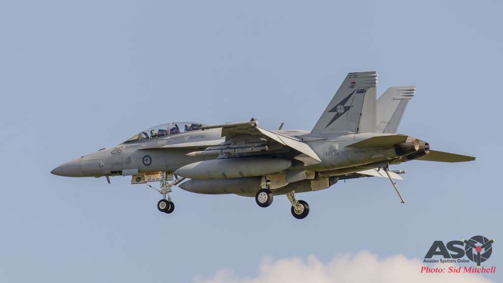 RAAF F/A-18F A44-216 ready to take the cable