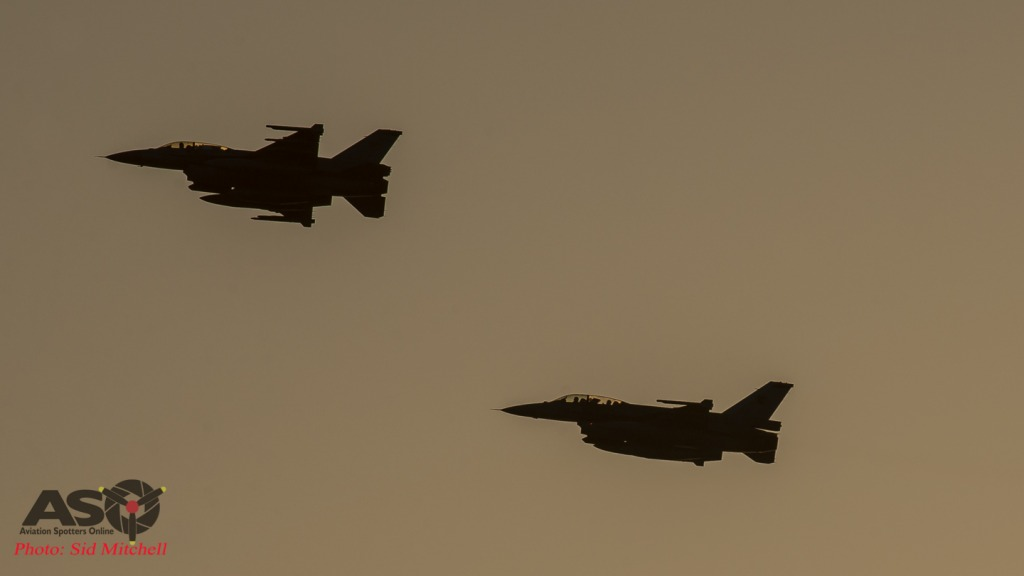 two RSAF F-16D's