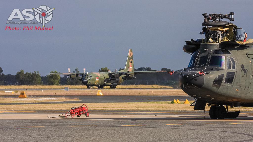 RSAF Lockheed C-130H Hercules and CH-47SD Chinook
