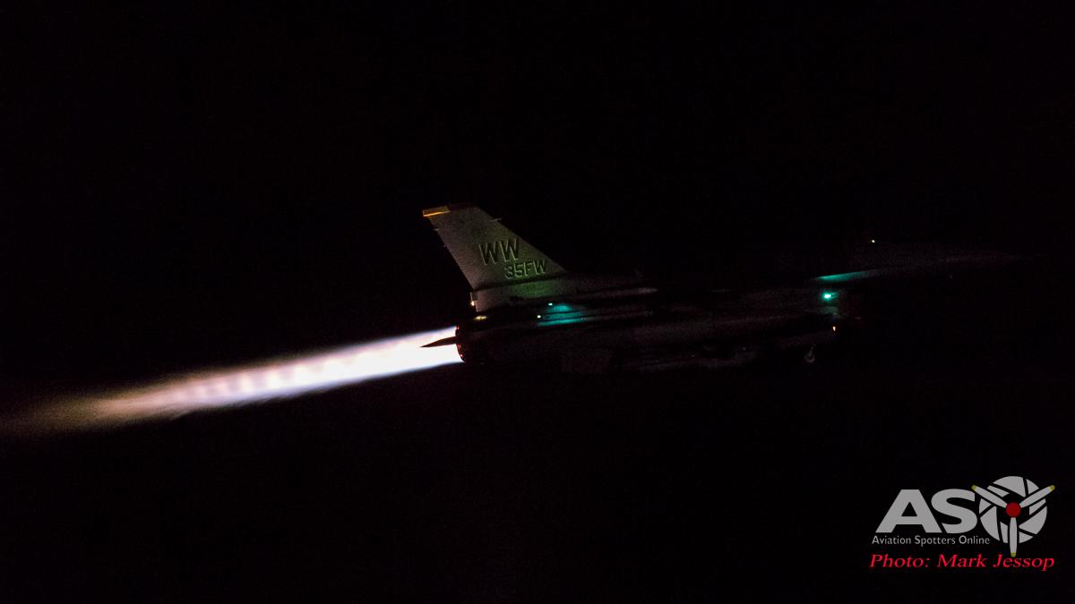 USAF F-16CJ Camera: Nikon D5, ISO: 102,400 Shutter: 1/160th, 5.6f