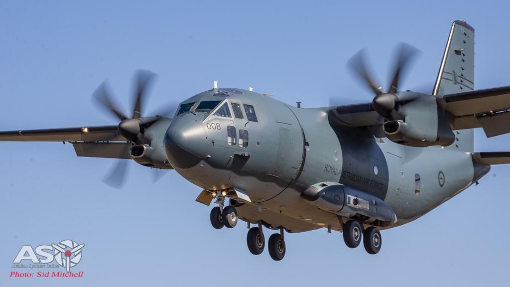RAAF C-27J Spartan at Batchelor Airstrip