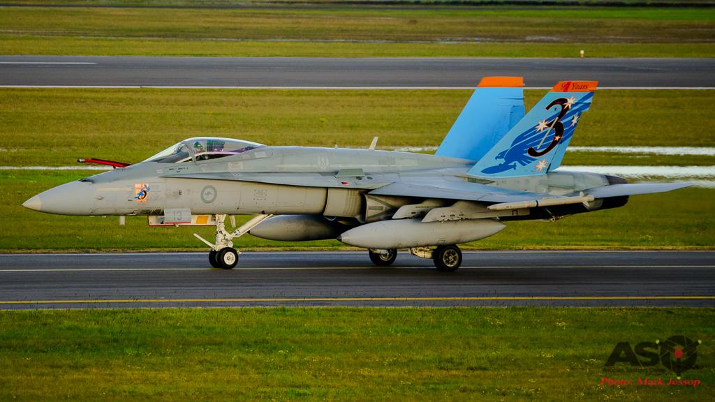 F/A-18A Hornet A21-13 3SQN 97 years Tail Scheme
