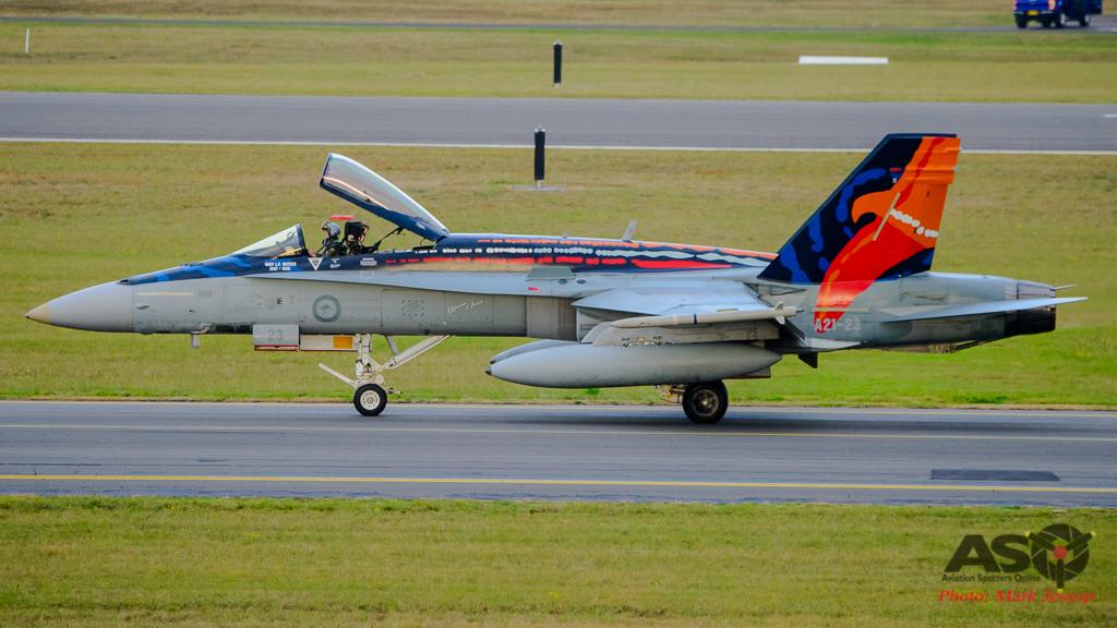 F/A-18A Hornet A21-23 Worimi scheme.