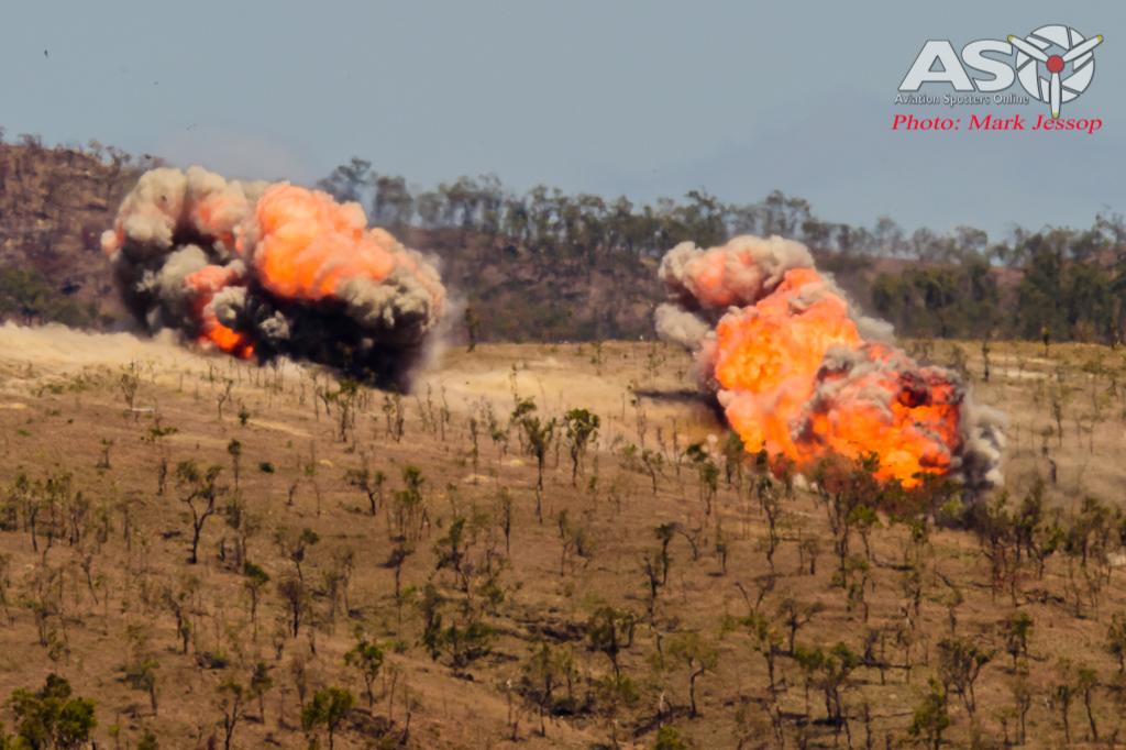 Mk-83 High drag impact on target