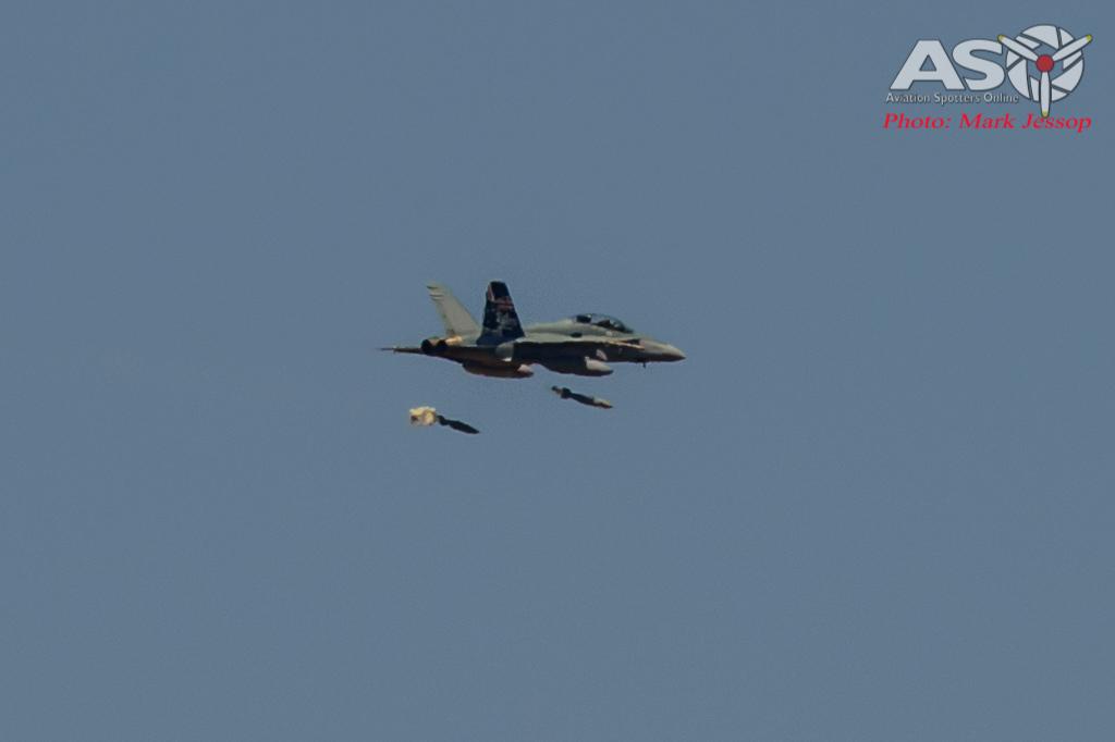 F/A-18 Hornet releasing Mk-38