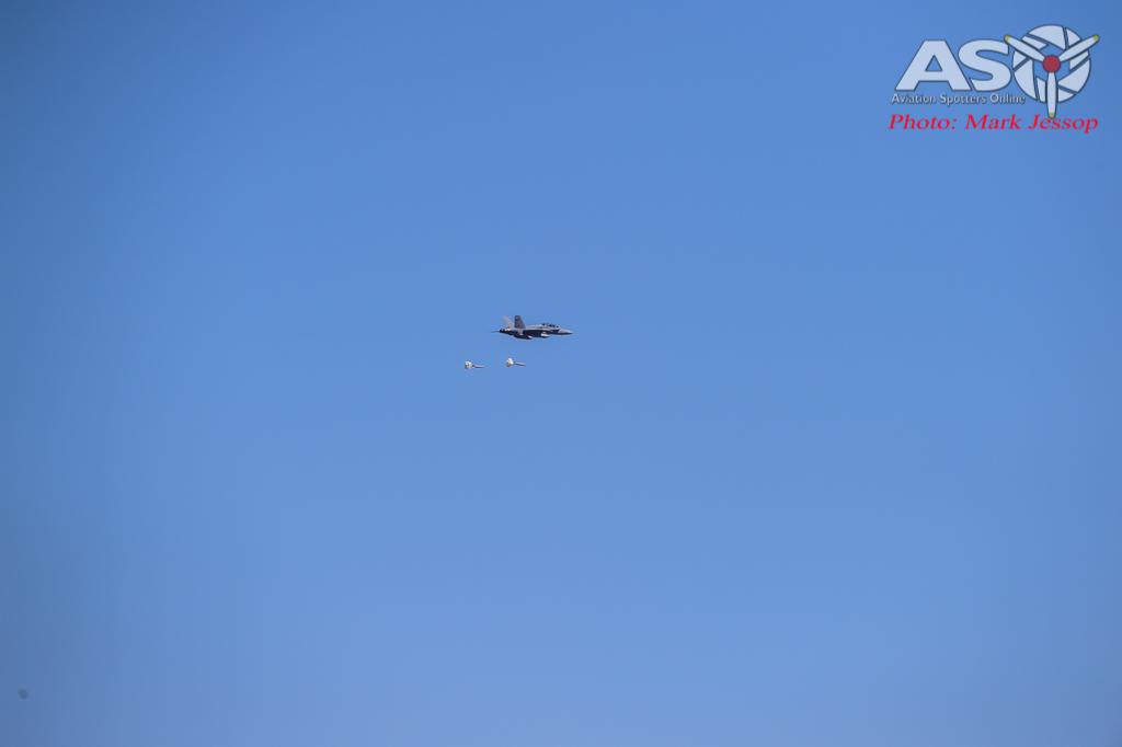 F/A-18 inbound to target