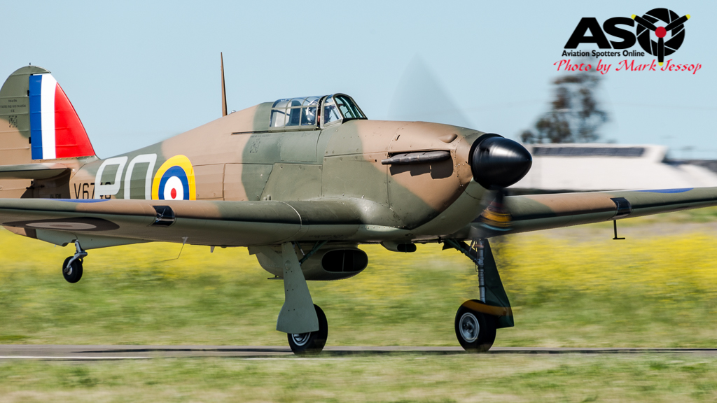 Hurricane rolling for take off.