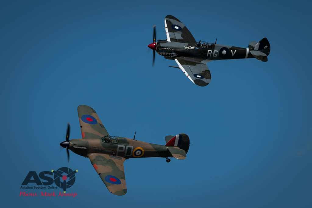Hawker-Hurricane-VH-JFW-and-Temora-Spitfire-MK-VIII-VH-HET HVA-2021-Mark-Jessop-2021-6