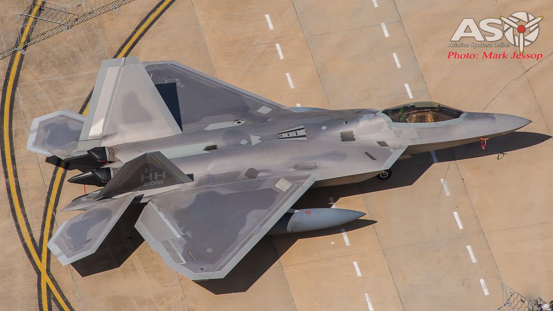 USAF F-22 Raptor.