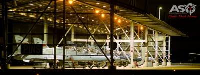 76SQN Hawks Flight line at night