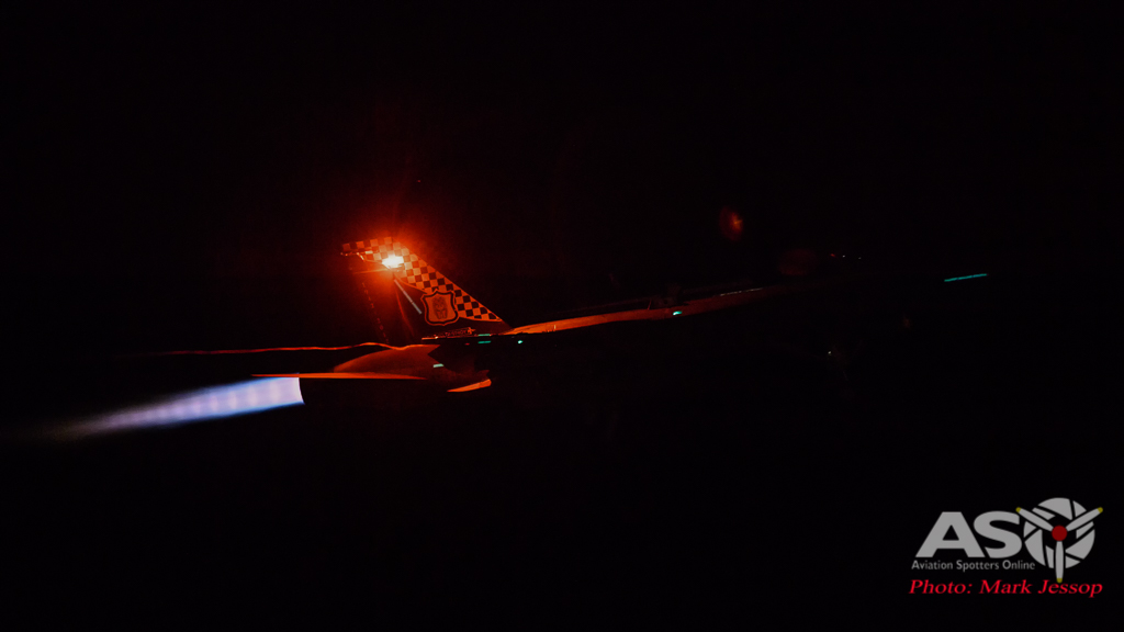 RAAF F/A-18A Hornet 77SQN A21-48 night launch