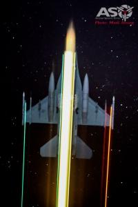 USAF F-16CJ Camera: Nikon D800, ISO: 6400, Shutter: 6.9 seconds 4.5f 58mm
