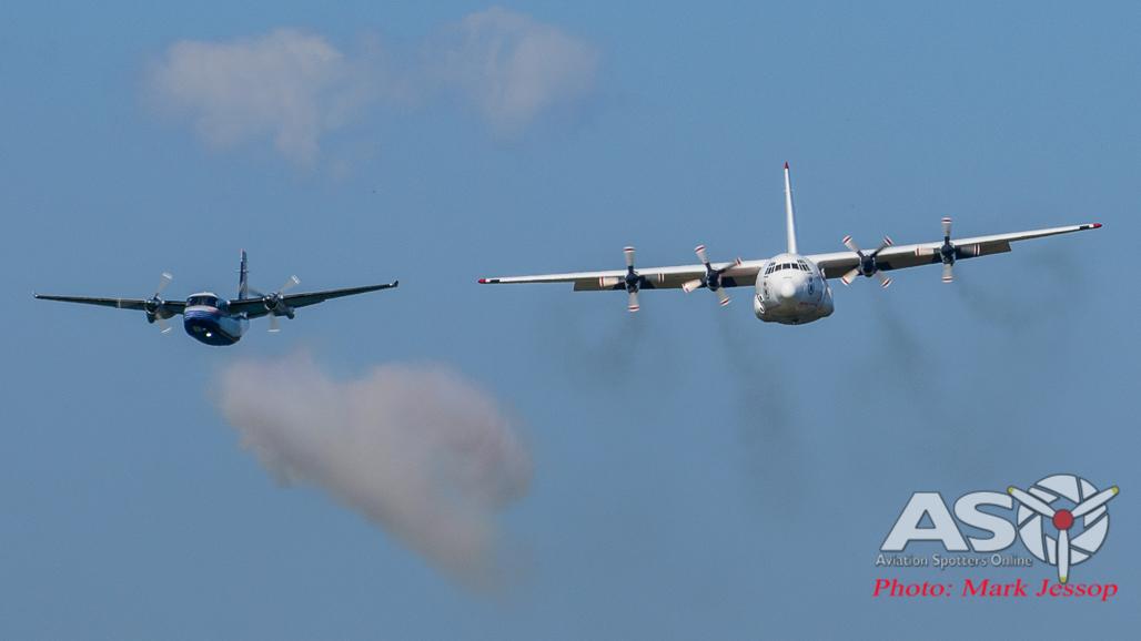 Coulsons Aviation Lockheed L-100-30 Hercules LAT &  Aero Commander spotter aircraft